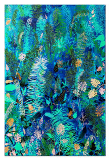 Dżungla_2017_olej na płótnie_120x80 cm