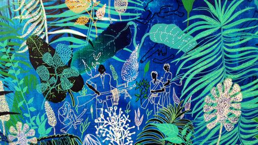 Dżungla_2_olej na płótnie_120x80 cm