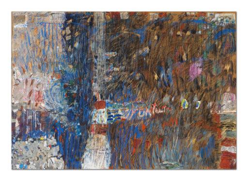 Iwona Góraj, NOKTURN CH, collage, papier, 70x100 cm, 2017